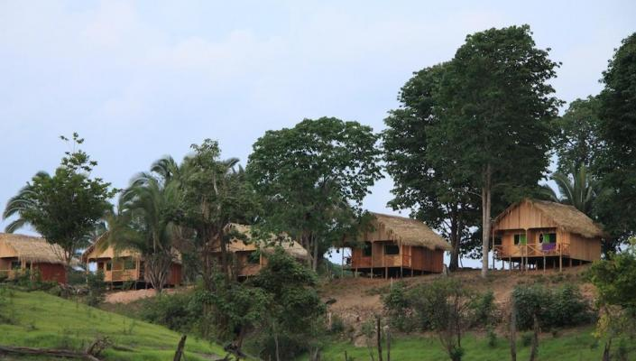 Bungalows der Turtle Lodge, Amazonasgebiet